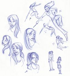 Fiery Redhead Sketches by kuabci