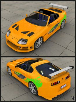 The Fast and Furious Supra by nalhcal