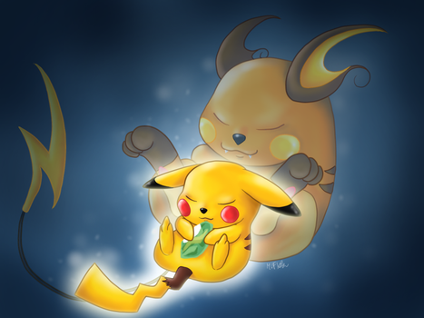 The Evolution of Pikachu by Mary1517