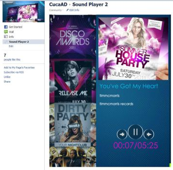 Facebook mp3 player by Cuca24