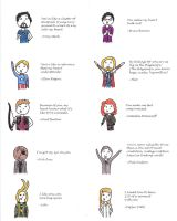 Avenger's Valentine sayings by Cmurray44
