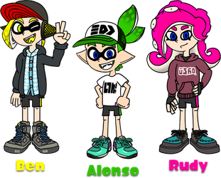 Alonso, Ben and Rudy - Redrawn and Remastered by AleMon1097