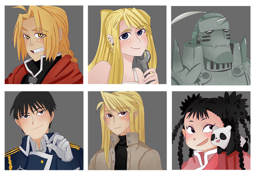 FMA Magnets by LimeDumplr