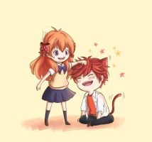 Sakura and Mikorin by Justsui