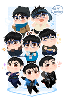 The Many Faces of Yuuri Katsuki by CubedCake