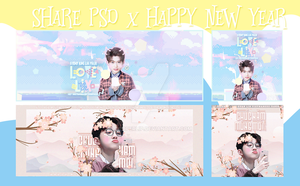 SHARE PSD X HAPPY NEW YEAR by RIPOPERLIP