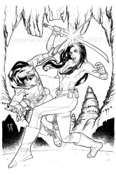 Robin and Talia Al Ghul training days by StephaneRoux