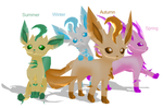 Seasonal Leafeon MMD by Wriggle-Kick