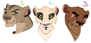Small Lioness designs. CLOSED: by BeeStarART