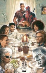 First Official Deadpool 2 Thanksgiving Poster by Artlover67