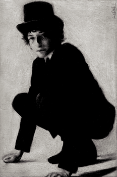 Bob Dylan Black-White Charcoal by dwightyoakamfan