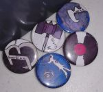 Fan Made Band Pins by TheRandomGirlXD