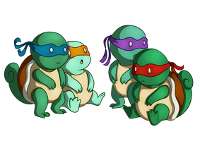 Ninja Squirtles by GrimmArtworks