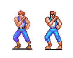 Super Double Dragon, pixel upgrade by Omegachaino