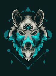 Wolf Vector Illustration by wikuideots