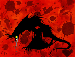 Silhouette of a Monster by Avadras