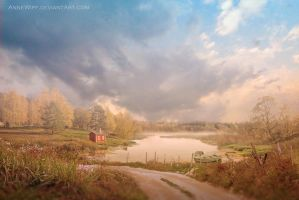 Little Red House by annewipf