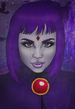 Realistic Raven (Teen Titans) by DamnBlackHeart