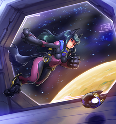Fanart commission: Space-anubis by blackmyst