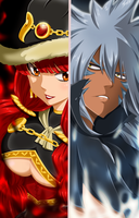 Eileen Belserion vs Acnologia / Fairy tail 488 by Mirajanee
