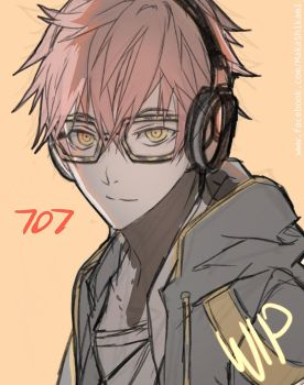 707 (mystic messenger) WIP by Shikaama