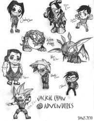 Jackie Chan Adventures Chibis by pixiedust96