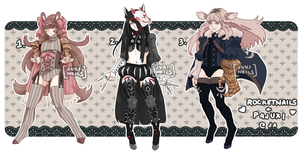 Armored Dainty Collab with rocketnails- {CLOSED} by Pajuxi-Adopts