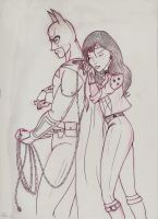Batman and NEW Wonder Woman by Anime-Ray