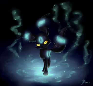 Shiny Umbreon by FinsterlichArt