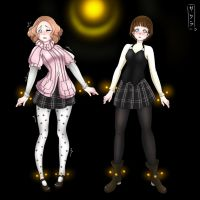 Commission Haru and Niijima from persona 5 Hypno by EneTheLigthingDancer