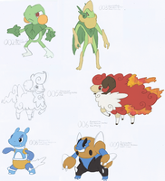 SKETCHES OF THEIR EVOLUTIONS by BoredX