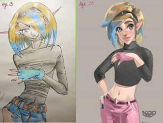 Drawing again after 10 years by Kim-SukLey