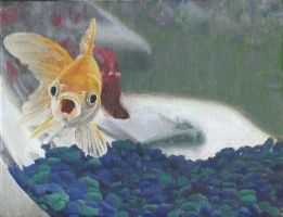 Realistic Fish Painting by fifthdimensional
