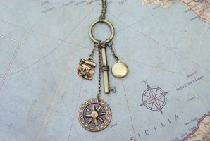 Pirate's Treasure Necklace by MonsterBrandCrafts