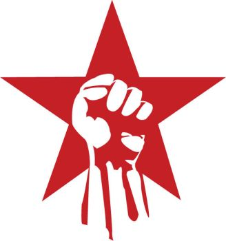 revolutionary red star by paintisthenewdope