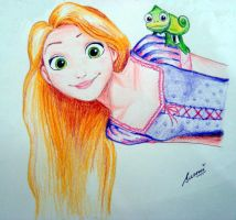 Rapunzel's quirky smile. by Zuzmy