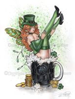 St. Patrick Fairy by delphineart