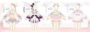 [CLOSED] Color Gradient Outfit Adopts | Auction by Black-Quose