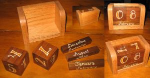 Wood Dice Calendar by viruswatts