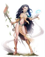 Mialee, Elven wizard by Chaos-Draco