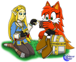 Scholars of History - Zelda and Ruby by Arkus0