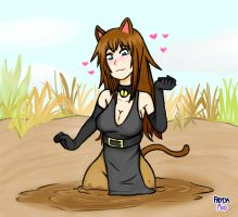 Neko Villainess having a sinkin' day [RQ] by FrydaMud