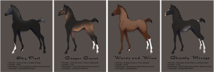 Lineage Zlesdin Yearlings | CLOSED by FeatherCandy