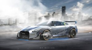 Nissan GT-R R35 FASTandFURIOUS Rebirth for Paul! by erpydesign