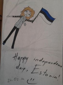 Happy birthday, Estonia! by ChudaChan