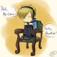 Chibi Pewdiepie and Mr. Chair by RadioMomo