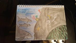 Sophie Sharkley and her baby sharks by SophieSharkley