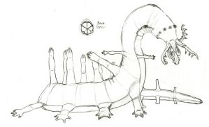 Wugonglong: the many legged triradial serpentfolk by Imperator-Zor