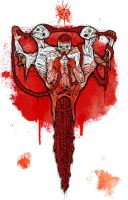 the bloody mutant cannibal zombies by ayillustrations