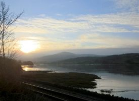 River Conwy by the tracks 1 by MakinMagic